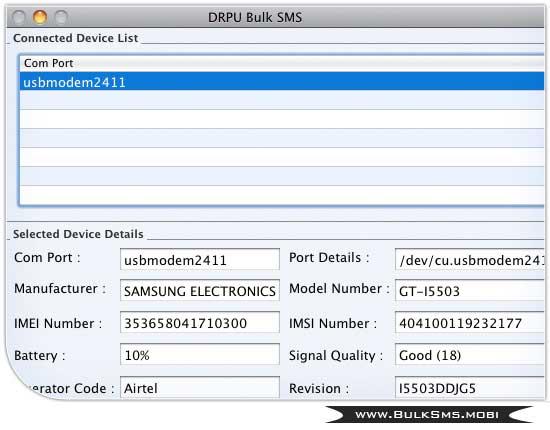 Mac Bulk SMS Gateway