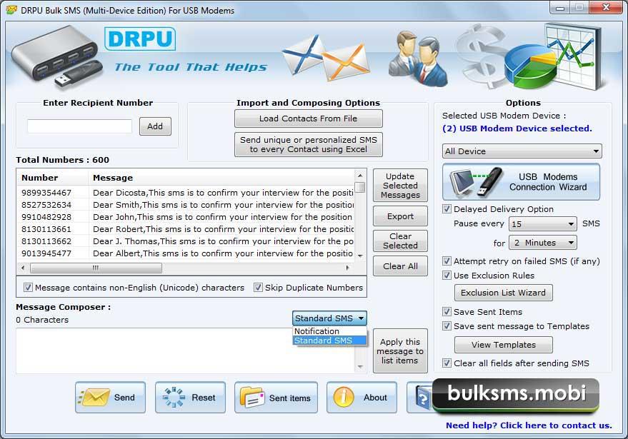 Bulk SMS USB Modem